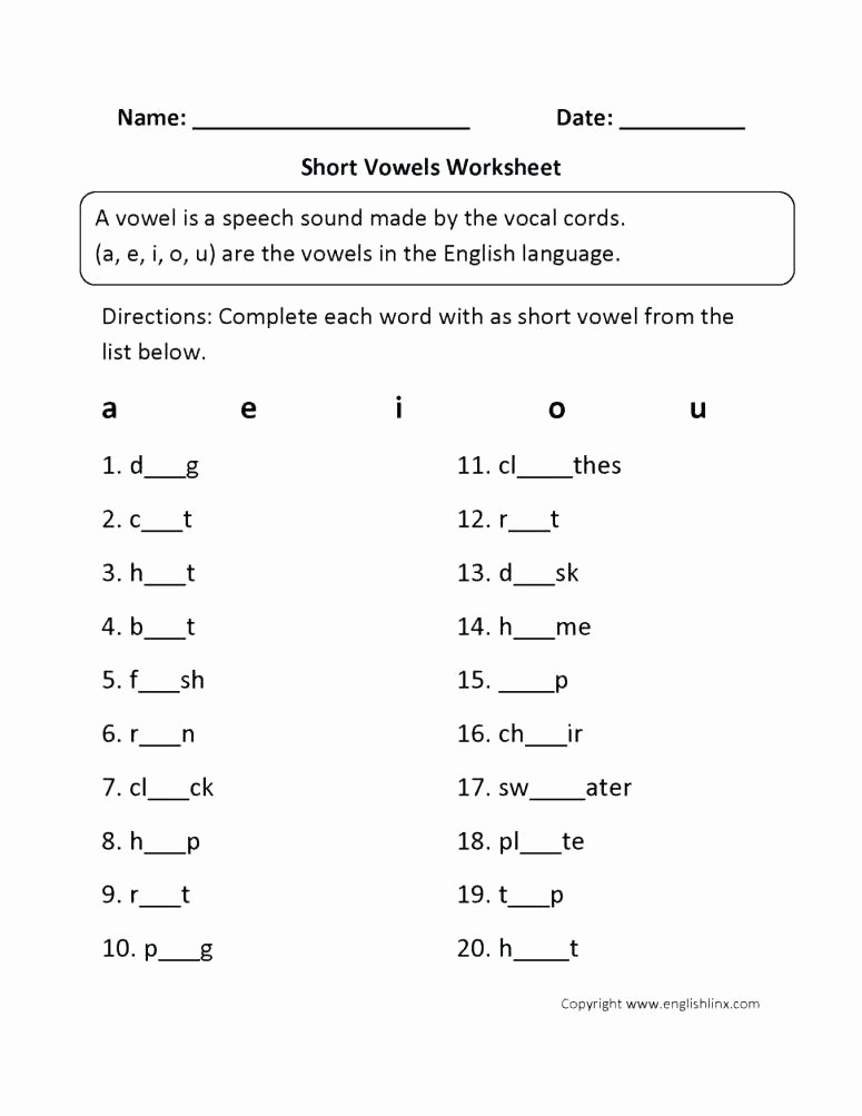Short O Worksheets Free O Worksheets for Kindergarten