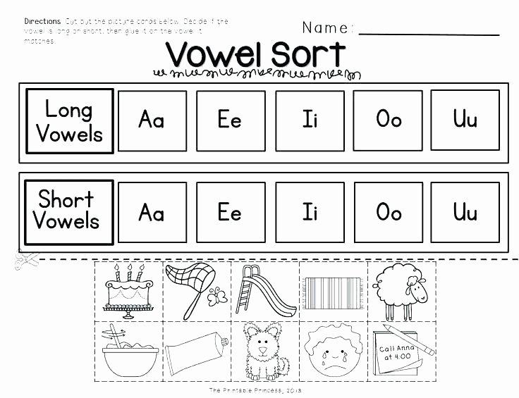 Short U Worksheets Pdf Kindergarten Worksheets Long Short Vowel sound Words