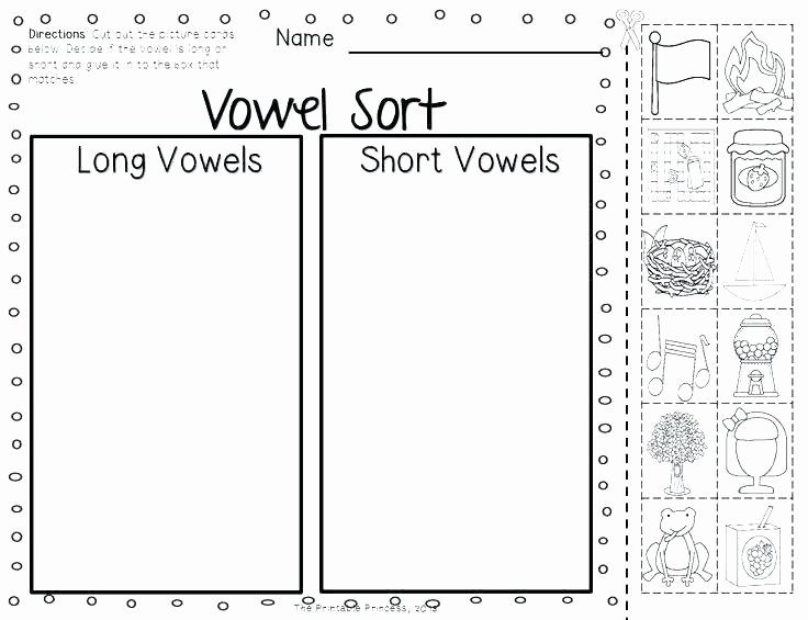 Short Vowel Worksheet Kindergarten Long O Worksheet Activity Worksheet Color the Long O sounds