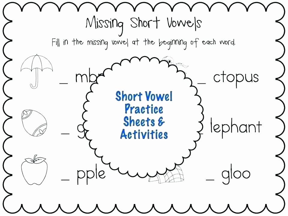 Short Vowel Worksheet Kindergarten Long O Worksheets 2nd Grade