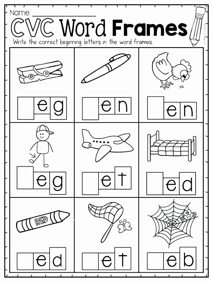 Short Vowel Worksheet Kindergarten Short A Worksheets Pdf