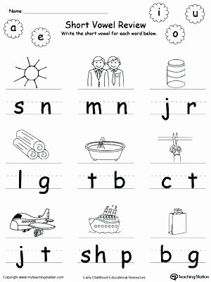 Short Vowel Worksheet Kindergarten Short Vowel Coloring Worksheets