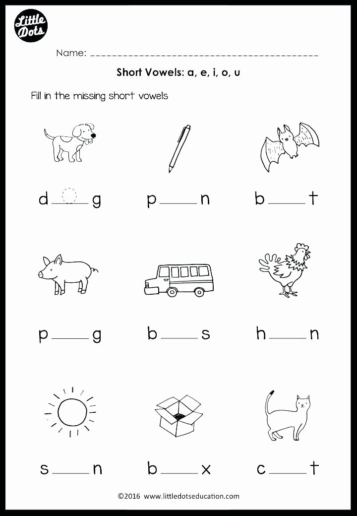 Short Vowel Worksheet Kindergarten Short Vowel O Worksheets Kindergarten