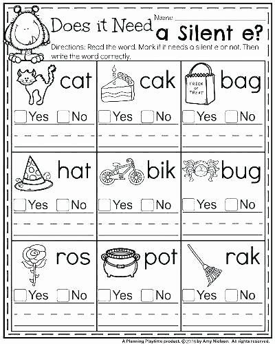 Short Vowel Worksheets 1st Grade Ai Worksheets for First Grade