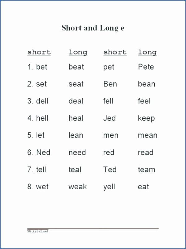 Short Vowel Worksheets 1st Grade Short Vowel Worksheets E Stories for Reading