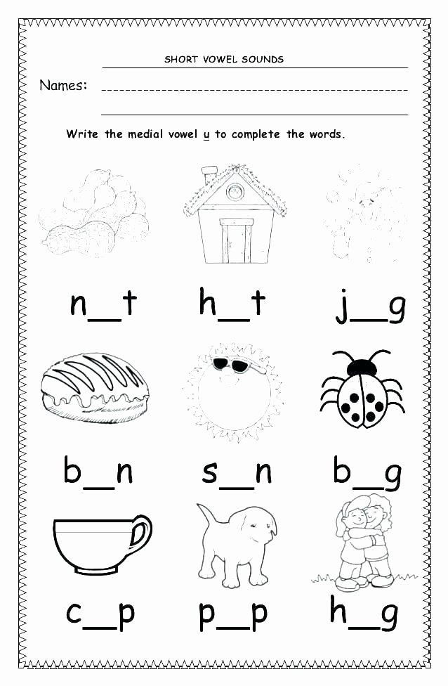 Short Vowel Worksheets 1st Grade Short Vowel Worksheets Free O Worksheet Long Vowels A Phonics Vs