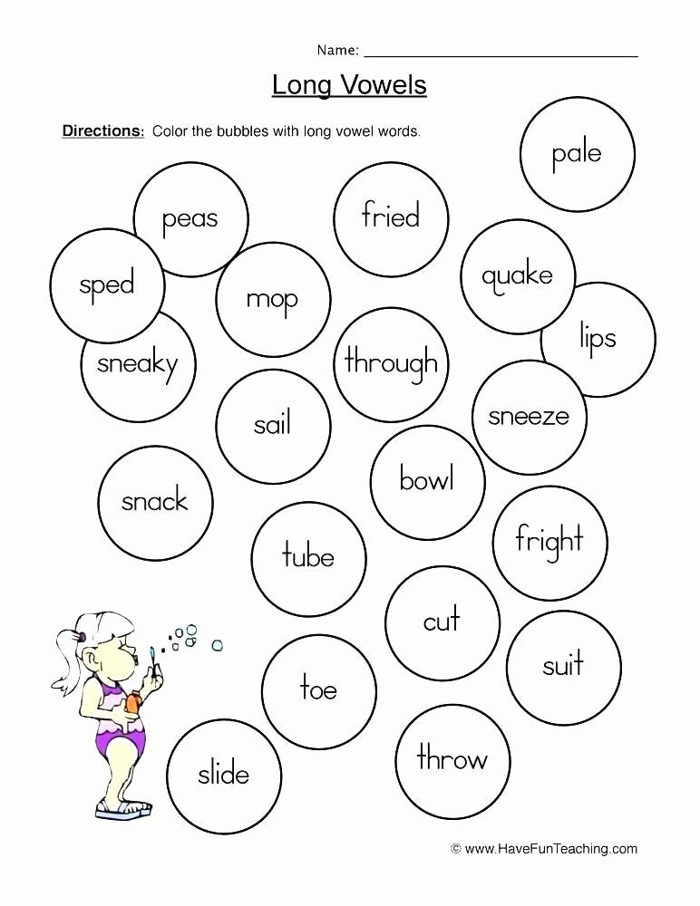 Short Vowel Worksheets 1st Grade Teaching Long Vowel Worksheets 3rd Grade Long and Short