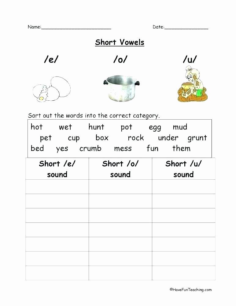 Short Vowel Worksheets 2nd Grade Short U Phonics Worksheets