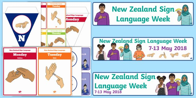 Sign Language Poster Printable Nz Sign Language Resources New Zealand Sign Language Week