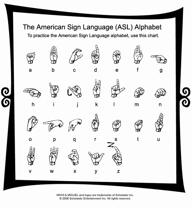 Sign Language Printable Worksheets Free Printable American Sign Language Alphabet – orek
