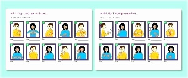 Sign Language Worksheets for Beginners Free Printable Safety Worksheets