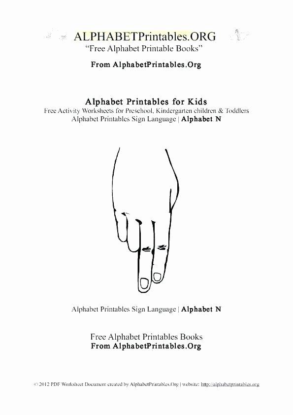 Sign Language Worksheets for Beginners Letter N Preschool Worksheets – Openlayers