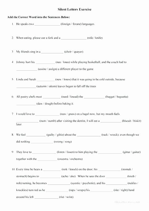 Silent E Worksheet Kn Worksheets Kn Worksheets All Silent Kn Worksheets Free