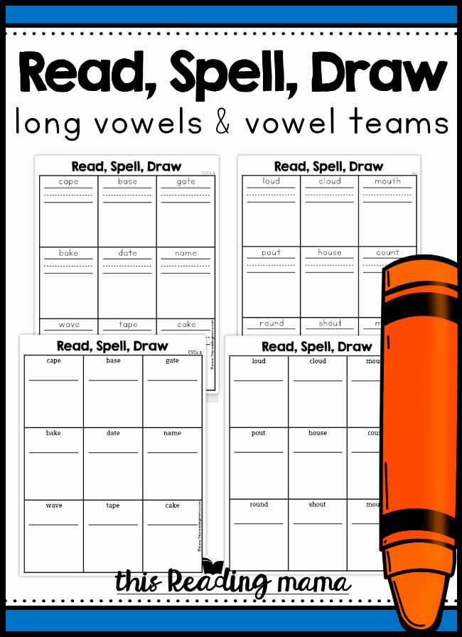 Silent E Worksheet Long Vowel & Vowel Team Phonics Pages