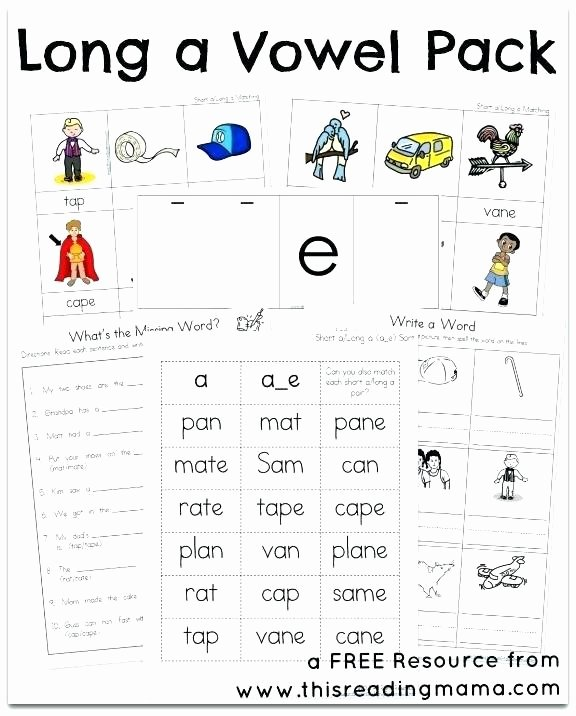 Silent E Worksheet Silent E Worksheets Long Vowel Free Kindergarten Short