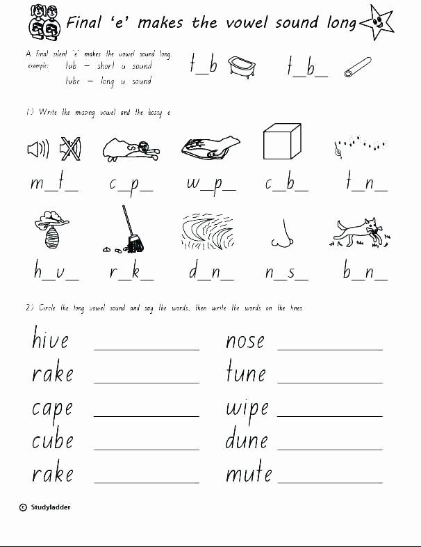Silent E Worksheets 2nd Grade Best Of Long Vowel Silent E Worksheets Rule Vowels Kindergarten Free