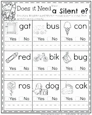 Silent E Worksheets 2nd Grade Best Of Silent E Worksheet Have Fun Teaching Worksheets 3rd Grade