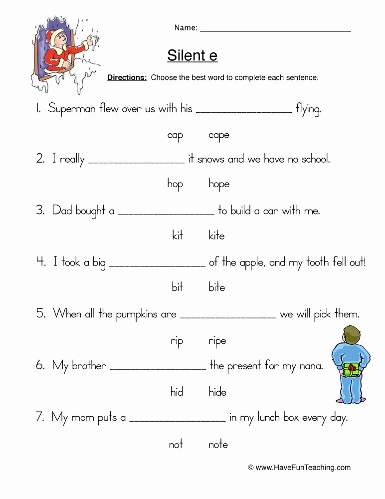 Silent E Worksheets for Kindergarten Cvc Worksheet New 560 Cvc Silent E Worksheet