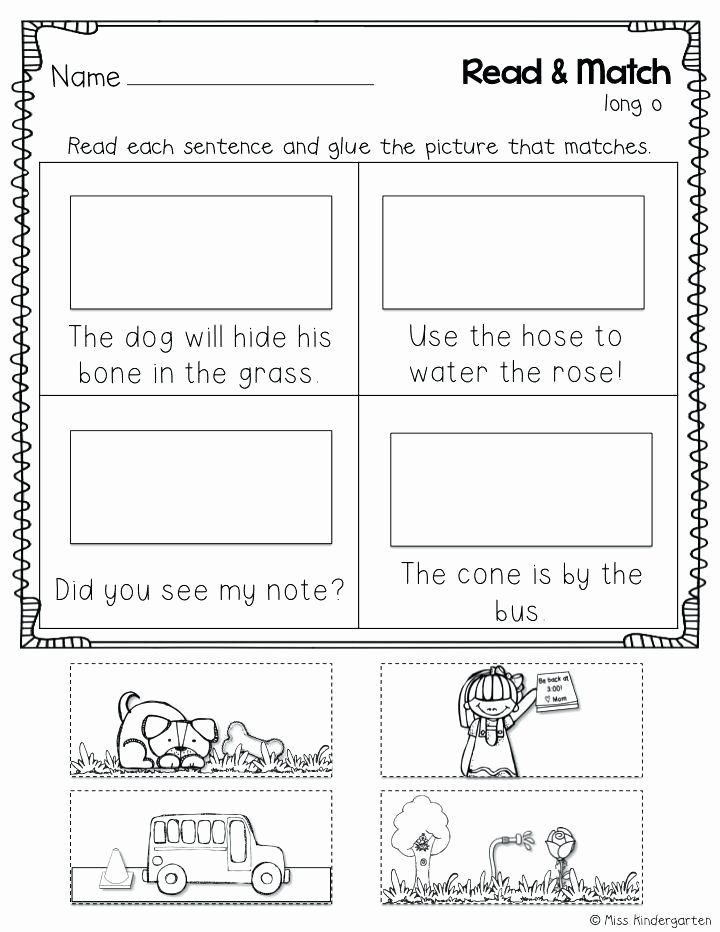 Silent E Worksheets for Kindergarten Cvce Worksheets