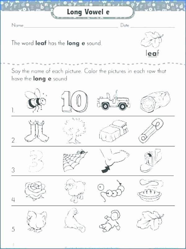 Silent E Worksheets for Kindergarten Long O Worksheets 2nd Grade