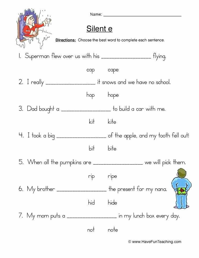 Silent E Worksheets Grade 2 Long O Silent E Worksheets Phonics U Activities and Free