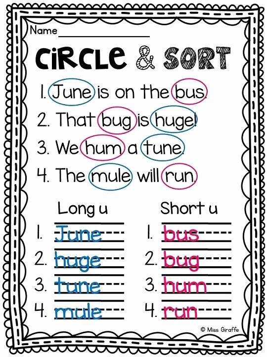 Silent E Worksheets Grade 2 Long U Worksheets and Activities No Prep