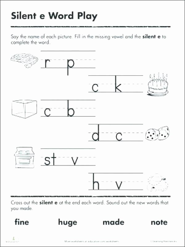 Silent E Worksheets Pdf Content Uploads Magic Long Vowel Silent E Worksheets U