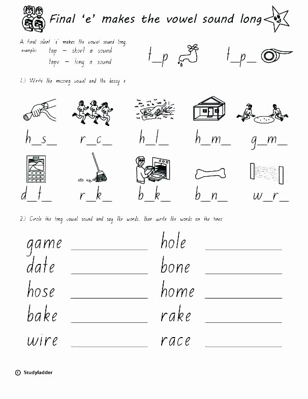 Silent E Worksheets Pdf Free Worksheets Letter K Printable for Silent E Words
