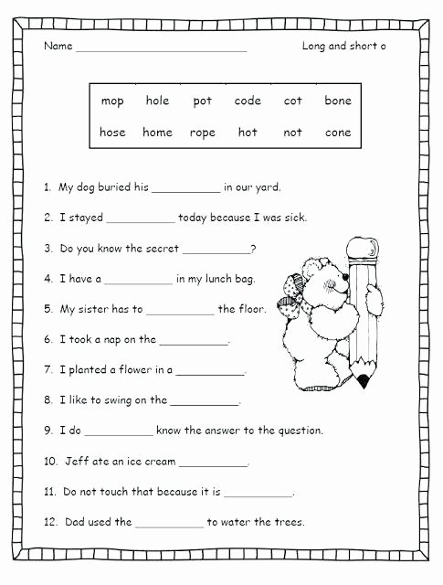 Silent E Worksheets Pdf Phonic Worksheets for Grade Double Vowel Ending Phonics