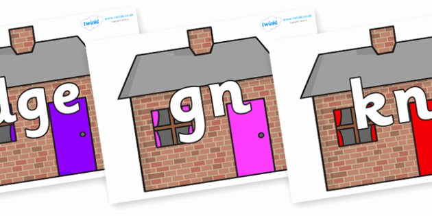 Silent Letters Worksheets Free Silent Letters On Brick Houses Silent Letters