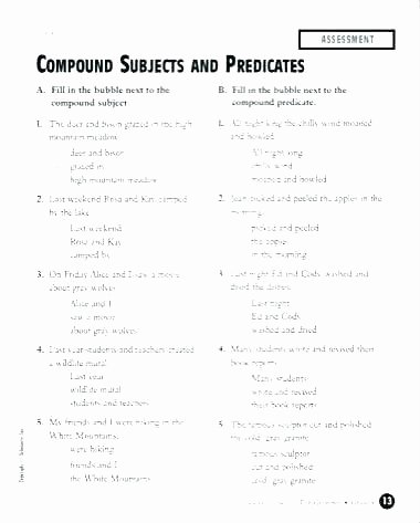 Simple and Compound Probability Worksheet Plete Predicate Worksheets Ts Subject and First Grade