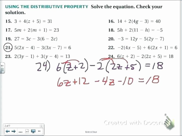 Simple Distributive Property Worksheet Identifying Properties Mathematics Worksheets Math 6th
