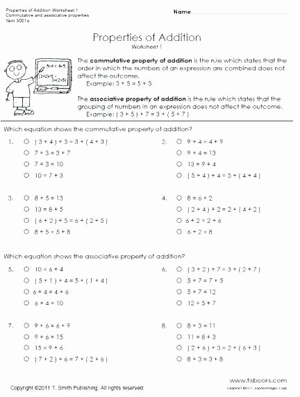 Simple Distributive Property Worksheet Mutative Property Worksheets 3rd Grade