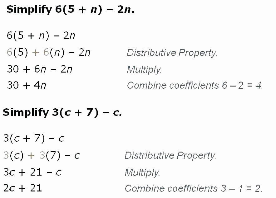 Simple Distributive Property Worksheet Mutative Property Worksheets associative and