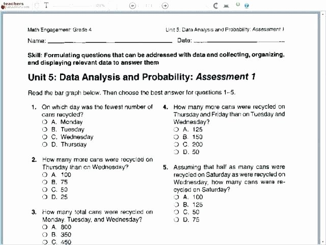 Simple Probability Worksheets Pdf 5th Grade Probability Worksheets