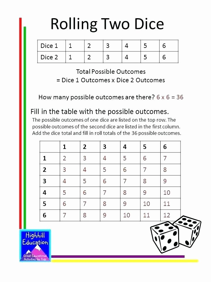 Simple Probability Worksheets Pdf Mon Collection Math Probability Worksheets Grade 8