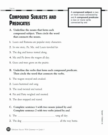 Simple Sentences Worksheet 3rd Grade Diagramming Sentences Worksheets with Answers Adverb