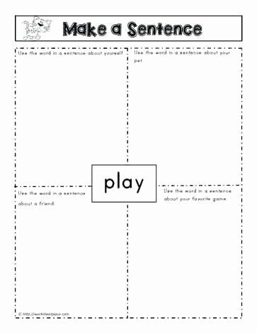 Simple Sentences Worksheet 3rd Grade Make A Sentence Graphic organizer Worksheet Writing topic