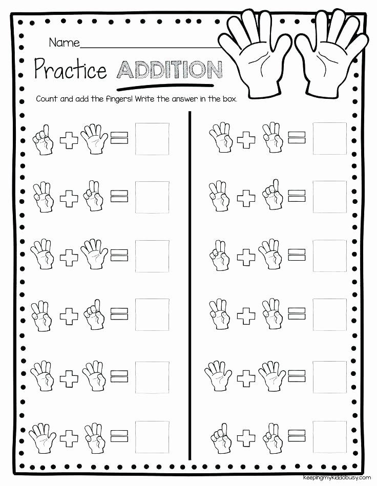 Simple Subtraction Worksheets for Kindergarten Easy Addition Worksheets