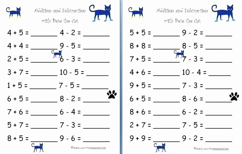 Simple Subtraction Worksheets for Kindergarten Free Printable Subtraction Worksheets Kindergarten Math for