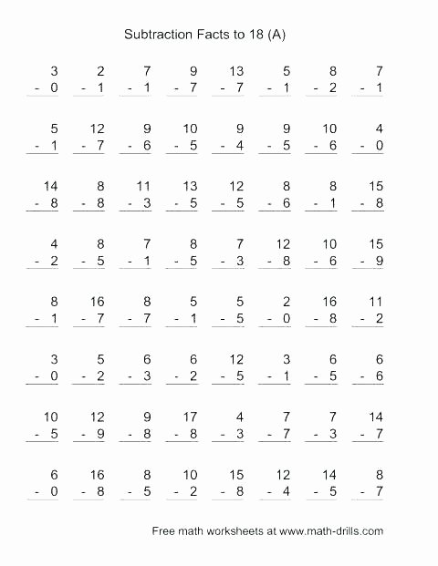 Single Digit Subtraction Worksheets Pdf Elegant Two Digit Addition Worksheets Free Regrouping Math