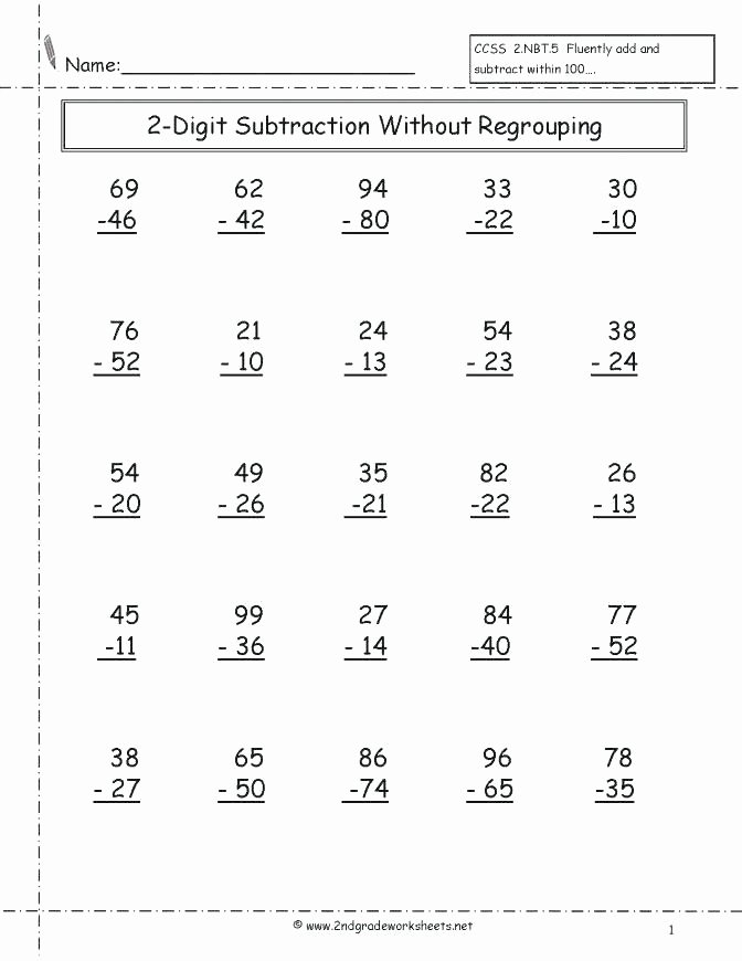 Single Digit Subtraction Worksheets Pdf Unique 3rd Grade Subtraction Worksheets 3 Digit Subtraction