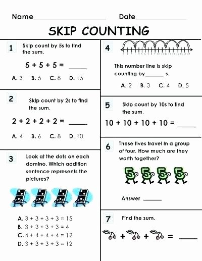 Skip Counting by 6 Worksheets Skip Counting Worksheets for Second Grade