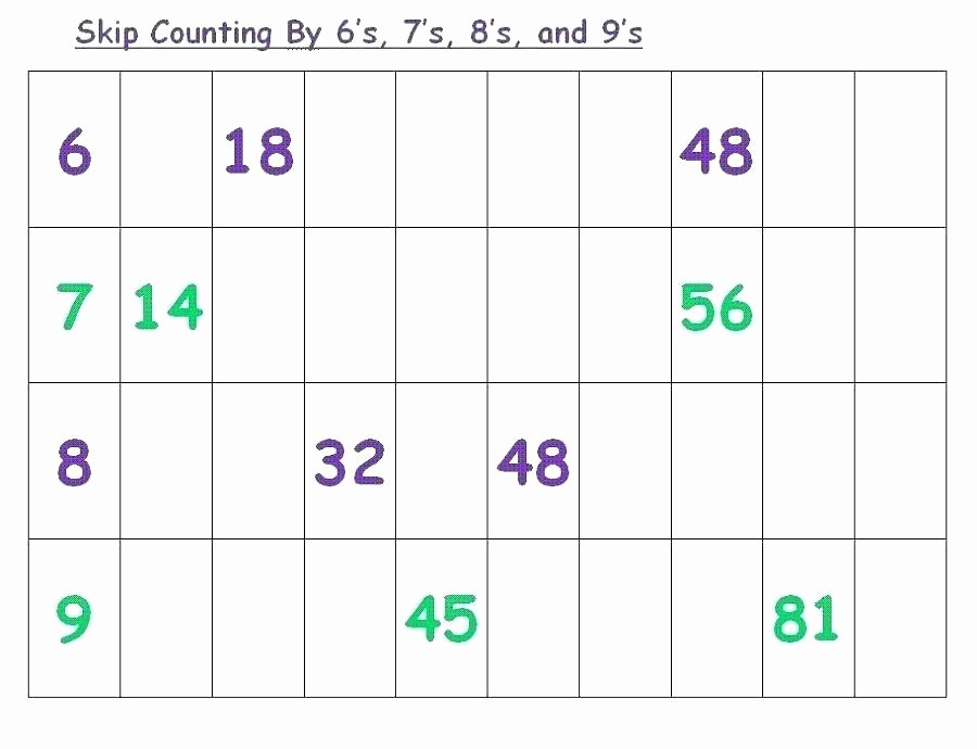 Skip Counting Worksheets 2nd Grade Skip Counting Worksheets for Second Grade