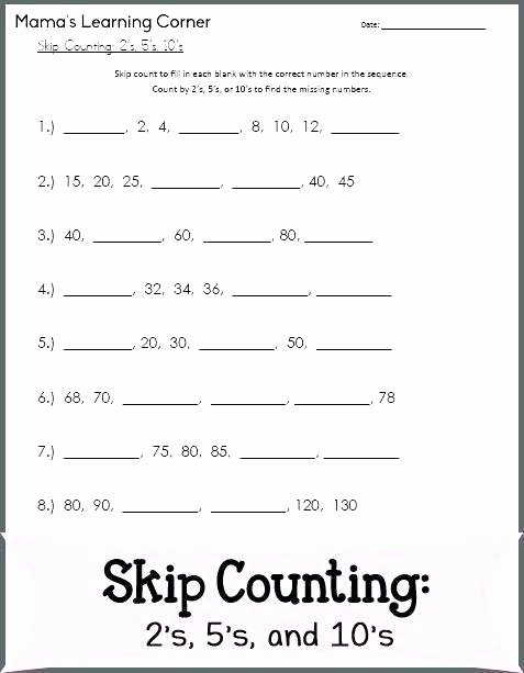 Skip Counting Worksheets 3rd Grade Missing Number Addition Worksheets Missing Number Worksheets