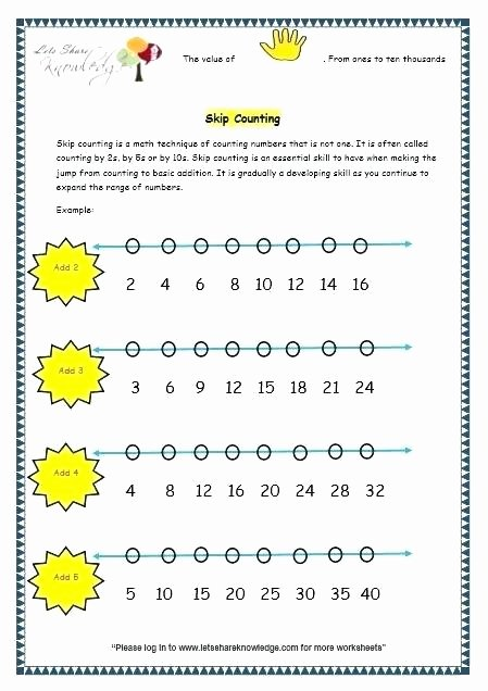 Skip Counting Worksheets First Grade Math Counting Worksheets