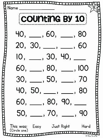 Skip Counting Worksheets First Grade Skip Counting Worksheets Grade 2