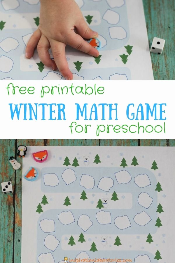 Snowman Math Worksheets Awesome Printable Winter Math Game Board