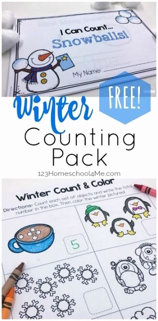 Snowman Math Worksheets Luxury Free Winter Count to 10 Printables