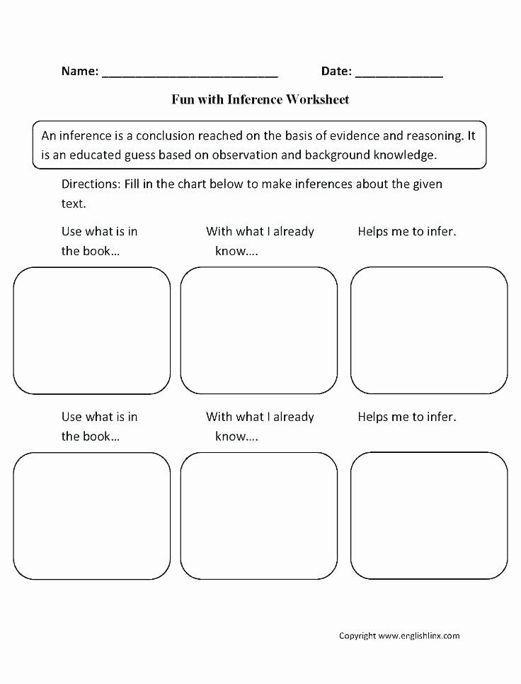 Social Inferences Worksheets Math Practice Worksheets Worksheet Example Printable